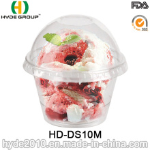 10oz Disposable Plastic Sauce Portion Cup with Lid