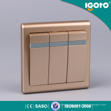 Igoto E9031 3 Gang 1 Way Interruptor de pared eléctrico británico