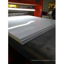 Hoja plástica rígida blanca brillante del PVC para el panel de bocadillo