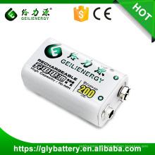 A bateria recarregável de 9V 200mAh 23F6-220 para o medidor de medição faz em China