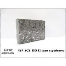 gray man made quartz stone