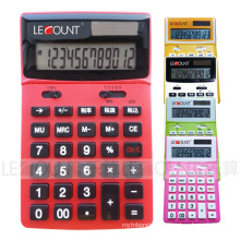 12 Digits Dual Power Desktop Calculator with Adjustable LCD Screen (LC227T-JP)