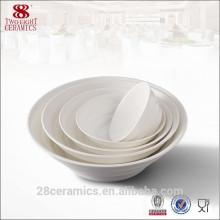 """Venta al por mayor de porcelana china de hotel, tazón plegable de cerámica chaozhou blanco de 6 """""""