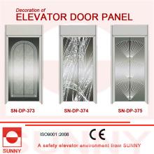 Panneau de porte de miroir de St. St pour la décoration de cabine d'ascenseur (SN-DP-373)