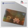 50 mícrons PET holograma Overlay adesivos para cartão de Pvc