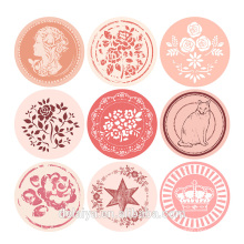 Circular Waterproof Seal Paper Sticker Customeized Sticker
