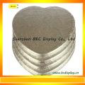 MDF mit Folien-Papier-Herz-Form-Kuchen-Trommeln, Kuchen-Bretter mit SGS (B & C-K072)