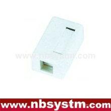 Caixa de superfície de 1 porta com 1 keystone key ou sem