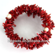 Handmade Seedings Coral Fashion Bracelets Threading Rows Coral Jewelry CN023