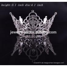 Großhandel Braut Haar Zubehör volle Runde Prom König Krone