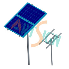 Single Pole Ground Bracketing System for Stand Alone Solar Power System