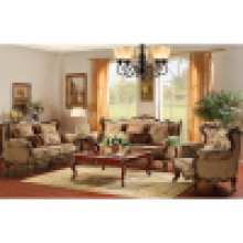 Sofa Set with Wood Coffee Table and Corner Table (YF910)