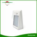 2016 Venta al por mayor 400lm LED Solar Powered PIR Sensor de movimiento Luz de calle impermeable 24 LED Lámpara de pared Jardín luces 3 modos de iluminación
