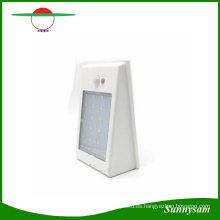 2016 Venta al por mayor 400lm LED Solar Powered PIR Sensor de movimiento Luz de calle impermeable 24 LED Lámpara de pared Jardín luces 3 modos de iluminación