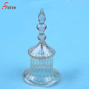 Vente de bouteille de vent décoratif en cristal pour les habitudes de restaurants occidentaux