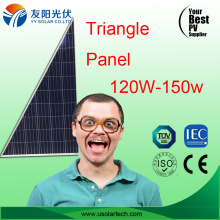 Abnormal Shape Triangle Solar Panel 120W 150W