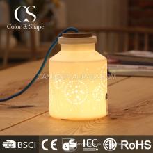 Lámpara de mesa de cerámica del diente de león de la forma mágica de la botella al por mayor