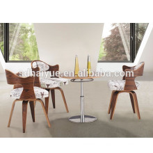 2017 nice quality rosewood swivel dining chair novel design