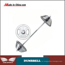 Conjunto de Barbell Olímpico de Combinação Livre de Galvanoplastia em Ferro Fundido