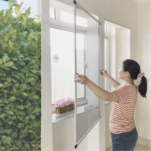 Aluminum alloy insect screen window with brush