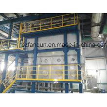Secador de cama de fluido de aquecimento de gás natural para produto químico de sal