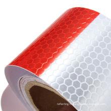 3m blanc/rouge réfléchissant sécurité AVERTISSEMENT perceptibilité Tape en rouleau