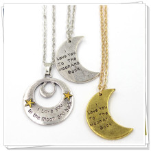 Silber-Gold-kundenspezifische Mond-Form-Art- und Weiseschmucksache-rostfreie Halskette