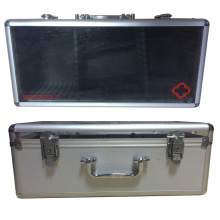Caja de aluminio Firsr Aid con tapa superior de acrílico