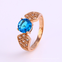 12254 Fashion jewelry elegant special price ring wholesale girls' latest 18k gold color ring designs