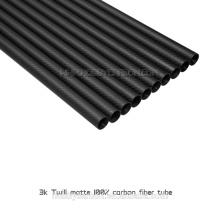 12mm OD 10mm ID 1000mm fibre de carbone tubos 3K matte