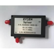 Duplexador de 6 a 18 GHz
