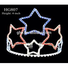 Pavo real corona tiaras rhinestone tiara