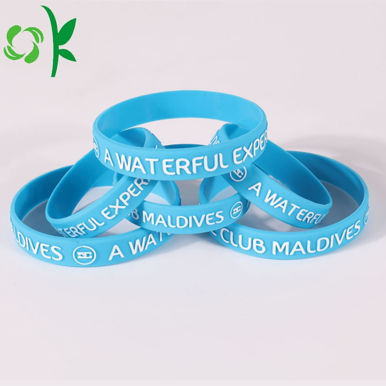 Embossed Printing Silicone Bracelet