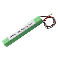 14.4V 700mAh Nickel Metal Hydride Battery Pack, AAA Size, for LED Light, Customized Size