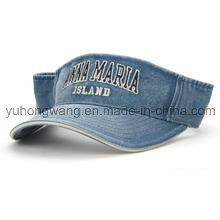 Gorra / visera de Sun del dril de algodón modificado para requisitos particulares, sombrero de Sun de los deportes