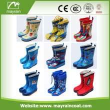 2017 wasserdichte Cartoon Print Kinder Gummi Regenstiefel