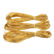 Online sell the gold metallic elastic cord
