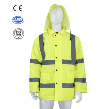 high visibility road traffic reflective safety jacket