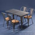 Tabla de cena industrial del café al por mayor del metal del diseño de la vendimia (SP-CT676)