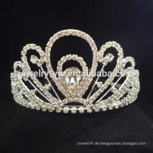 Hochzeitshaar-Zusätze volle Kristallblumen-Stirnbandkrone