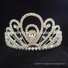 Свадебные аксессуары для волос полный хрустальный цветок оголовье корону
