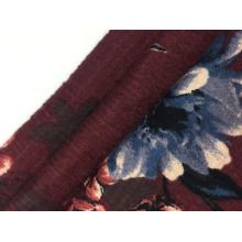 Tela de punto con estampado de crepé de tripa de algodón