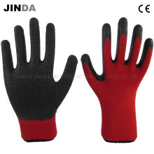 Polyester Shell Latex Crinkle Coated Labor Protective Industrial Gloves (LS202)