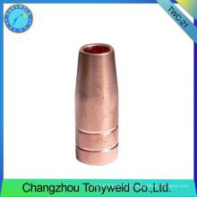 Consommables de soudage à buse à gaz de la torche de soudage Tweco 21-62
