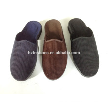 New mens corduroy slippers closed toe indoor slipper with injection outsole