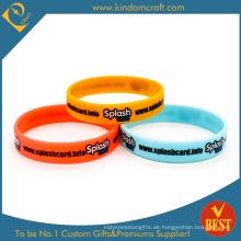 Hohe Qualität gedruckt Werbe Gummi Silikon Armband (LN-030)