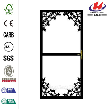 364 Series Black Paradise Security Door