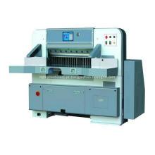 Máquina de guilhotina de papel de tela de toque