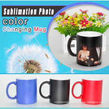 Hot Selling Wholesale Price 11oz Sublimation temperature Color Changing Mug ,temperature sensitive cup