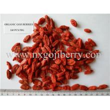 Bayas orgánicas certificadas de Goji de Ningxia Zhengyuan 160 PCS / 50g